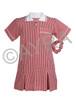 School Wear Uniform Gingham Dress (Ayra) Red