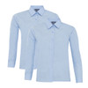 Boys Twin Pack Long Sleeve School Shirt (Banner) (911350)