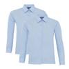 Boys Twin Pack Long Sleeve School Shirt (Banner) (911350)