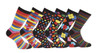 12 Pairs of Mens Vivid Odd Stripes and Spots Socks