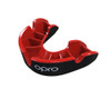 Self-Fit GEN4 SILVER Junior & Adult Mouthguard Gum Shield (Opro) Black and Red