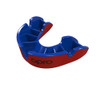 Self-Fit GEN4 SILVER Junior & Adult Mouthguard Gum Shield (Opro) Red and Blue