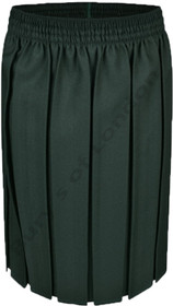 Box Pleat School Uniform Skirt (Ayra) Bottle Green
