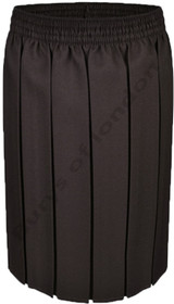 Box Pleat School Uniform Skirt (Ayra) Brown