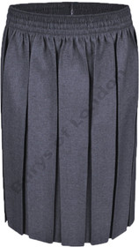 Box Pleat School Uniform Skirt (Ayra) Grey