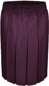 Box Pleat School Uniform Skirt (Ayra) Maroon