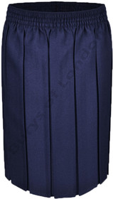 Box Pleat School Uniform Skirt (Ayra) Navy