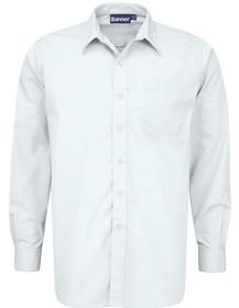 White Shirt Boys Twin Pack Long Sleeve School Shirt (Banner) (911350)