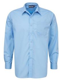 Blue Shirt. Boys Twin Pack Long Sleeve School Shirt (Banner) (911350)