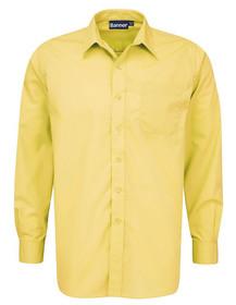 Yellow Shirt. Boys Twin Pack Long Sleeve School Shirt (Banner) (911350)