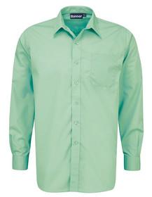Green Shirt. Boys Twin Pack Long Sleeve School Shirt (Banner) (911350)