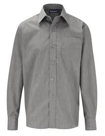 Grey Shirt. Boys Twin Pack Long Sleeve School Shirt (Banner) (911350)