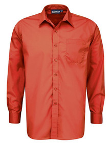 Red Shirt. Boys Twin Pack Long Sleeve School Shirt (Banner) (911350)