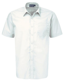 White Short Sleeve Shirt. Boys Twin Pack Short Sleeve School Shirt (Banner) (911351)