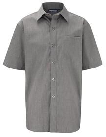 Grey Short Sleeve Shirt. Boys Twin Pack Short Sleeve School Shirt (Banner) (911351)