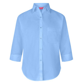 3/4 Sleeve Button To Neck Blouse (Zeco)