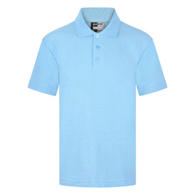 School Polo Shirt 15 Different Colours (Zeco) Sky Blue