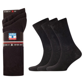 Mens 100% Cotton Socks, 6-11