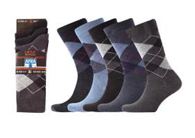 12 pairs of men's argyle diamond socks with Lycra