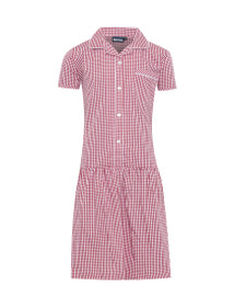 Ashley Button Front Corded Gingham Dress (Banner) (914008)