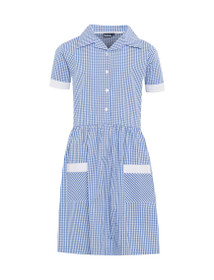 Ayr Button Front Corded Gingham Dress (Banner) (913108)