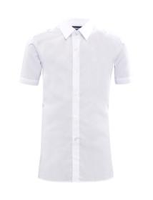 Boys Slim Fit Twin Pack Short Sleeve School Shirt (Banner) (IVS)
