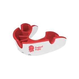Self-Fit GEN4 SILVER Junior & Adult Mouthguard Gum Shield (Opro) White and Red