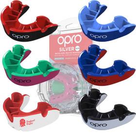 Self-Fit GEN4 SILVER Junior & Adult Mouthguard Gum Shield (Opro