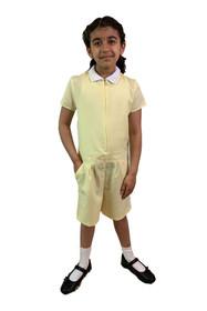 Girls' Gingham School Playsuit (Ayra) Yellow