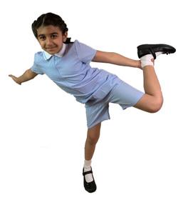 Girls' Gingham School Playsuit (Ayra) Light Blue