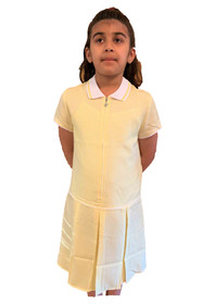 Girls' Gingham School Dress (Ayra) Yellow