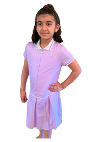 Girls' Gingham School Dress (Ayra) Purple