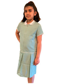 Girls' Gingham School Dress (Ayra) Green