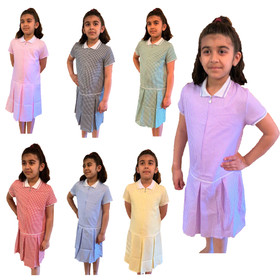 Girls' Gingham School Dress (Ayra)