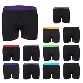 Full Elasticated Boys Boxer Shorts (6 pack or 12 pack)
