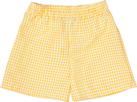 Gingham Under Shorts Yellow Gold