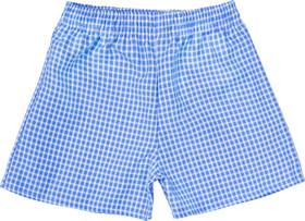 Gingham Under Shorts Sky Blue