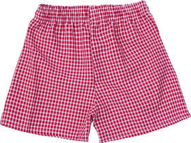 Gingham Under Shorts Red