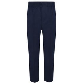 Boys Full Elastic School Pull Up Trouser (Age 2-16) (Zeco) Front