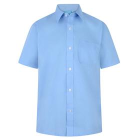 Boys Twin Pack School Wear SHORT Sleeve Shirt (Zeco) (BS3096)