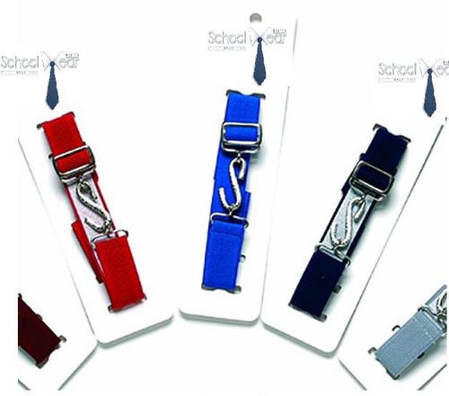 Boys Girls Kids Childrens Elasticated Snake Belts Plain Colours School Uniform
