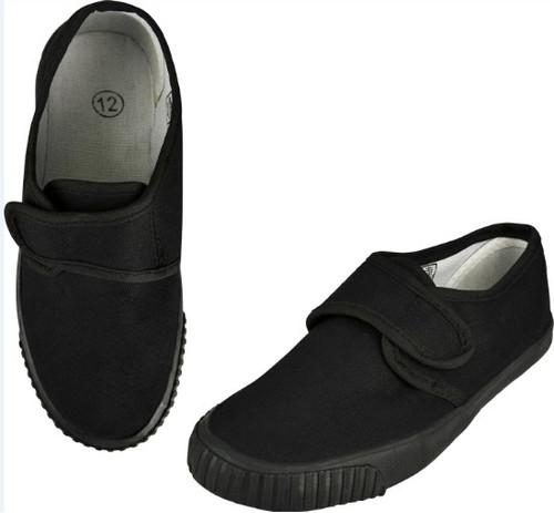 Boys Girls White Lace Up PE Gym Sports Pumps Plimsoles Plimsolls Shoes PL3222