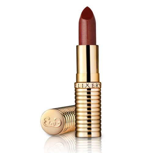 """Sheer natural looking lipstick, called """"Devious,"""" in a gold tube"""