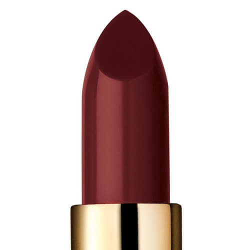 "Closeup of ""Quantum,"" a dark plum lipstick"