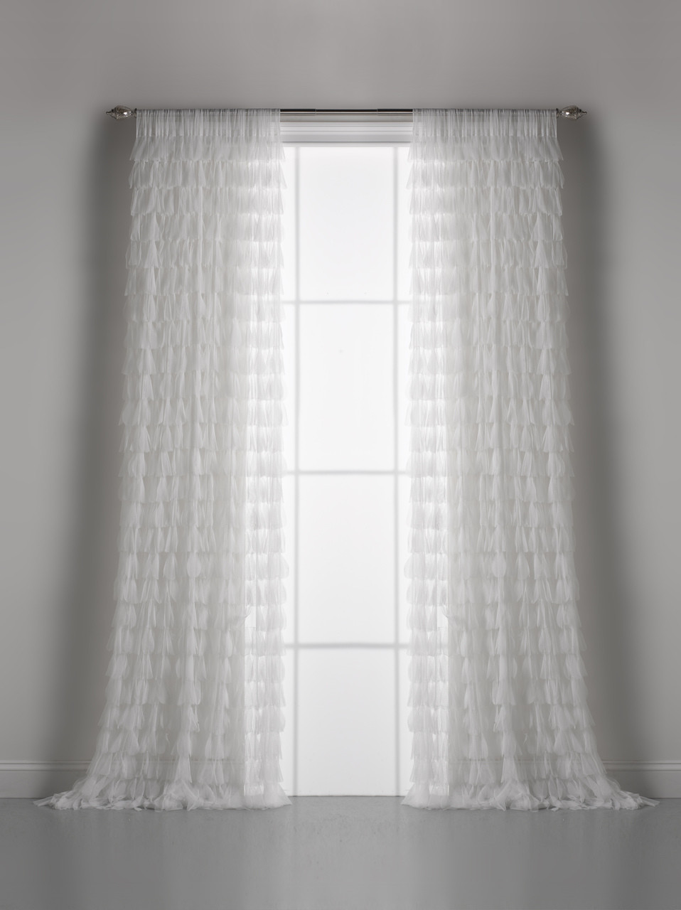 White Chichi Petal Window Curtain Couture Dreams