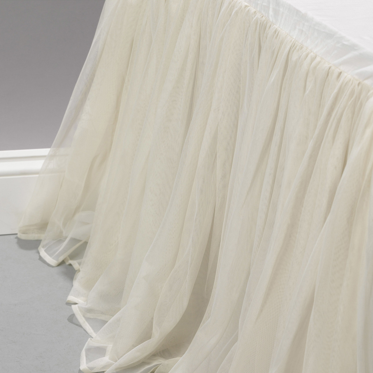 What Is A Bed Skirt.Whisper Ivory Gathered Tulle Bed Skirt