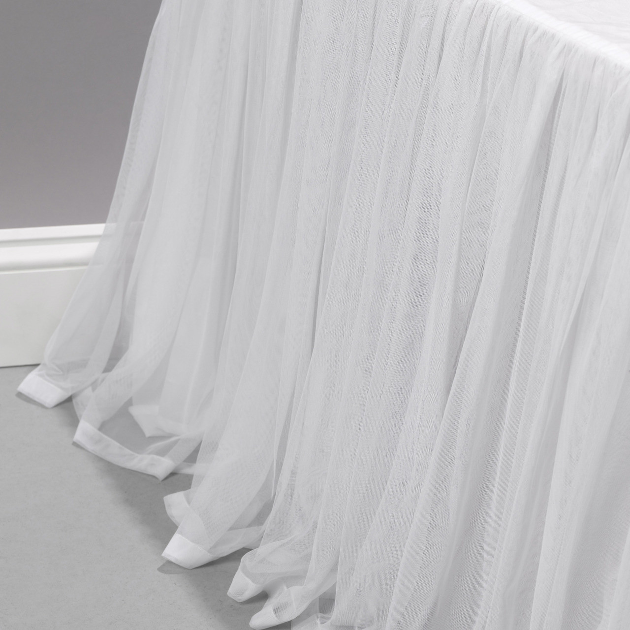 Couture Dreams Whisper White Bed Skirt