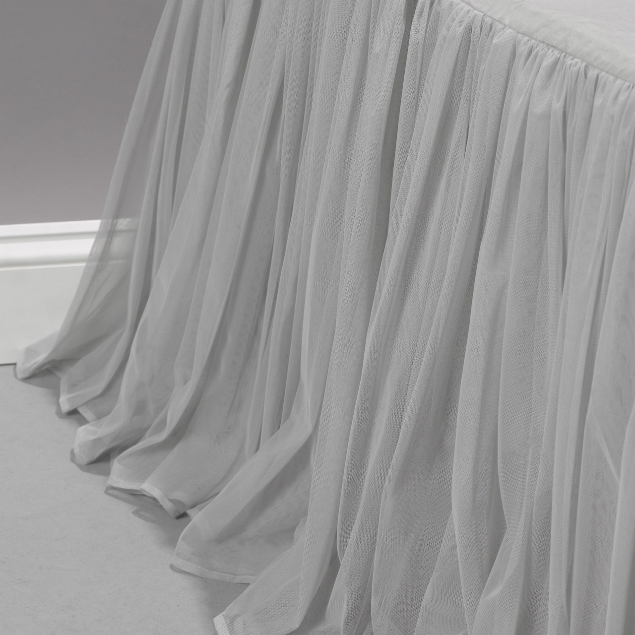 Grey Whisper Bed Skirt Couture Dreams