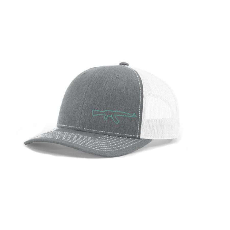 AK Lid (White/Heather Grey - Blue Logo))