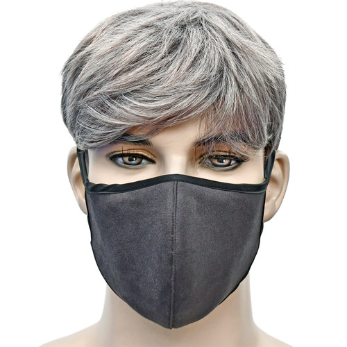 YaYmask - Graphite Color Cloth Face Mask Front View